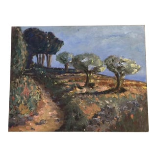 French Landscape Oil Painting