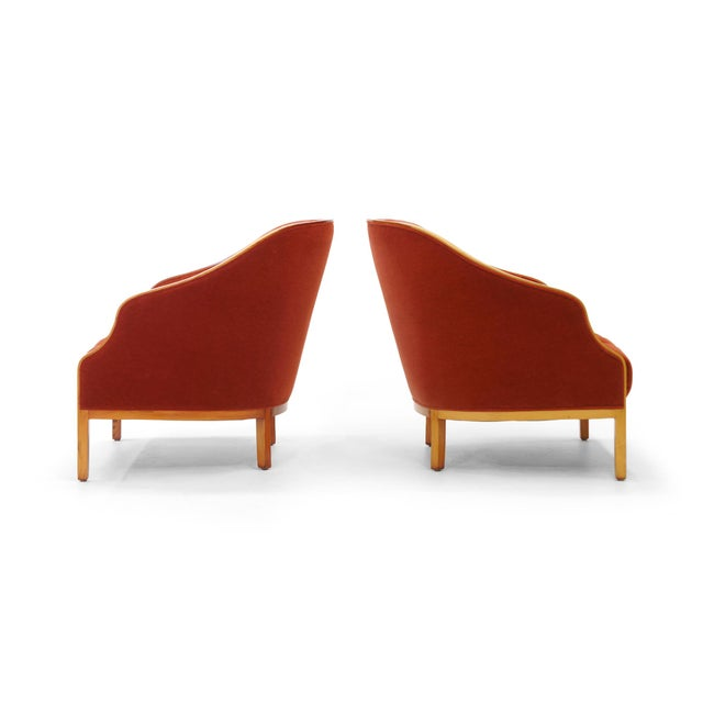 Pair of Ward Bennett Club Chairs for Brickel Associates - Image 4 of 10