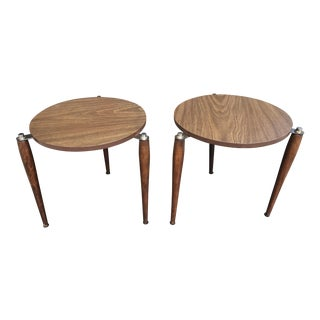 Mid-Century Space Age Nesting Occasional Tables - A Pair