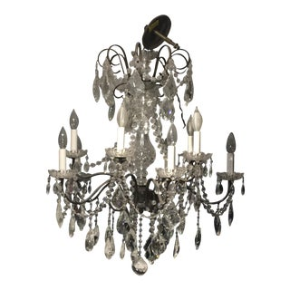 Schonbeck Crystal & Iron Chandelier