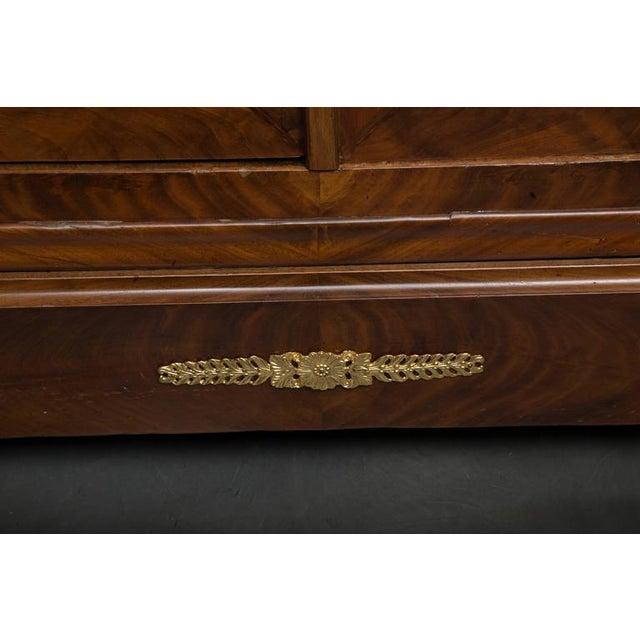 19th Century French Empire Mahogany Bookcase - Image 6 of 10