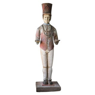Painted Wooden Statue, circa 1910