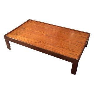 Low Mid-Century Walnut Coffee Table