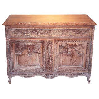 French Louis XV Bleached Oak Buffet