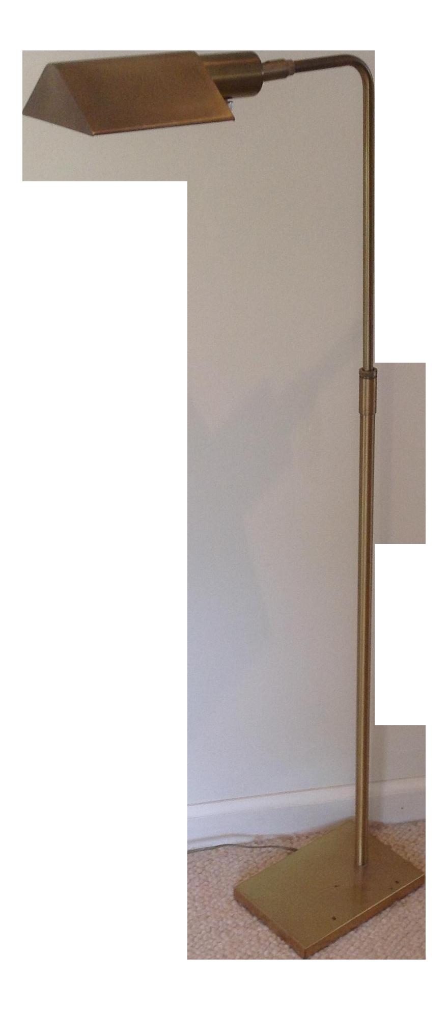 koch u0026 lowy midcentury brass floor lamp
