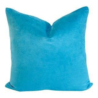 Boho Blue Suede Pillow