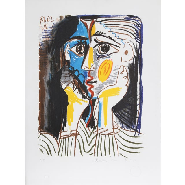 "Pablo Picasso ""Visage"" Lithograph - Image 1 of 2"