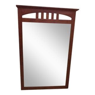 Ethan Allen Beveled Glass Solid Wood Frame