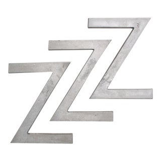 "Industrial Steel ""ZZZ"" Signage Letters"