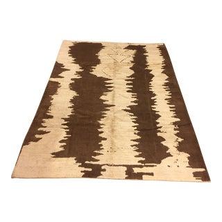 """Turkish Handmade Floor Hemp and Wool Rug - 83"""" x 113"""""""