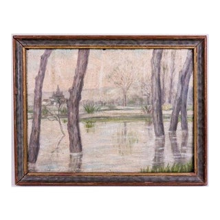 Antique European Landscape Oil Painting