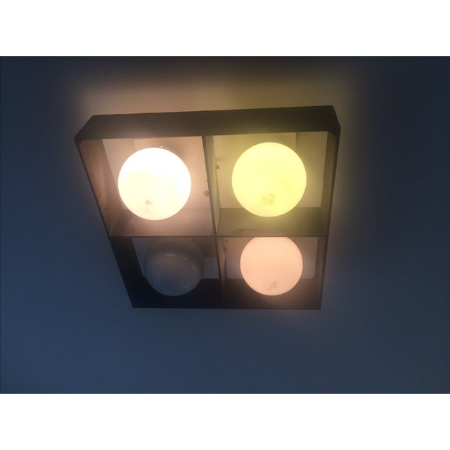Mid-Century Orb Four-Light Ceiling Fixture - Image 9 of 10