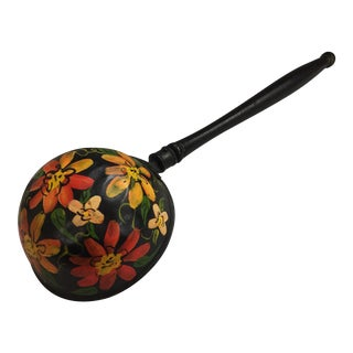 Yellow & Red Floral Hand Painted Ladle