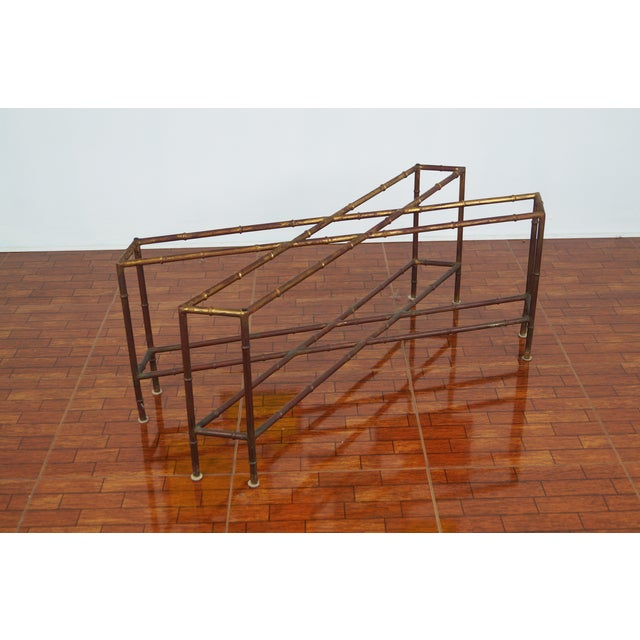 Vintage Faux Bamboo Coffee Table - Image 3 of 6