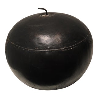 Abstract Apple Sculpture, Blackened Tin
