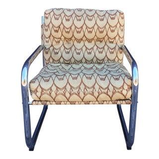 1970s Mid-Century Modern Chrome Side Chair