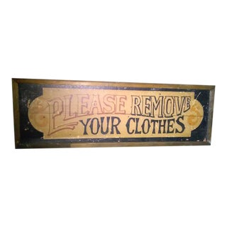 Antique 1920's Wooden Sign