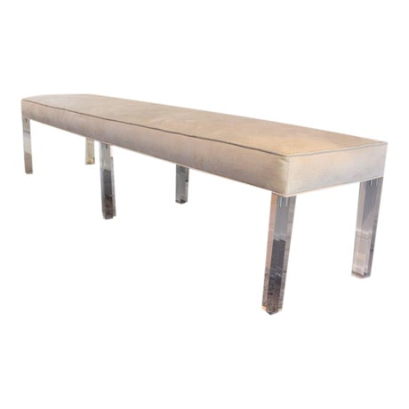 Long Lucite Bench - Image 1 of 4