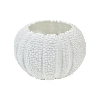 Vintage White Ceramic Anemone Bud Vase