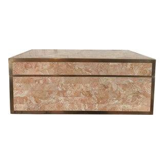 Maitland-Smith Stone & Brass Hinged Box