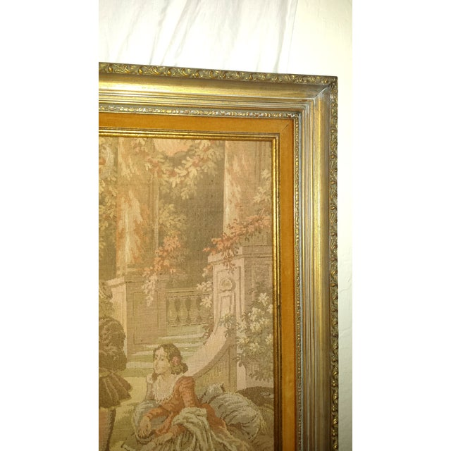 Image of Antique Very Large Framed French Tapestry