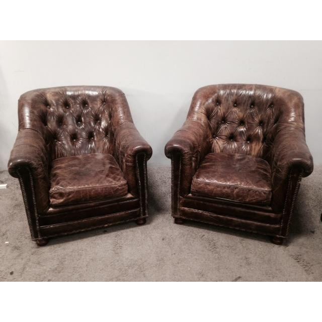 Leather Club Chairs - Pair - Image 2 of 11