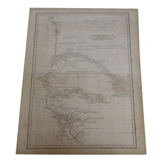 Vintage 1788 Map of the Western African Coast