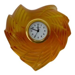 Lalique St. Valentine's Clock