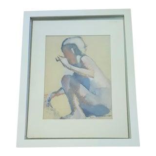 Vintage Original Impressionist Figure Painting