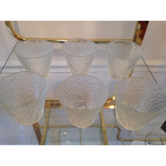Mid-Century Clear Old Fashioned Glasses - Set of 6 - Image 4 of 4