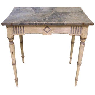 19th C Painted Directoire Table