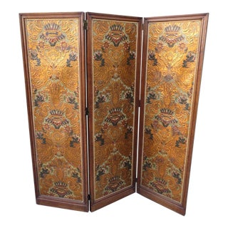 19th C. Italian Embossed Screen