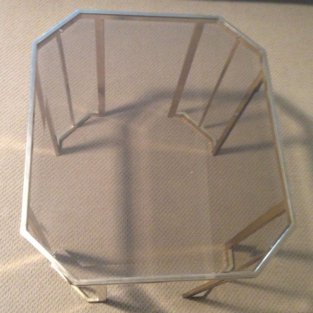 Glass & Brass Side Table - Image 7 of 7