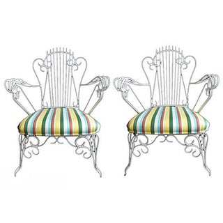 Vintage Iron Chairs - Pair