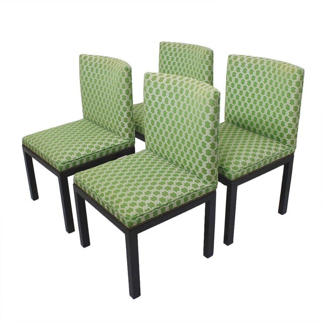 Green Accent Chairs - A Pair - Image 7 of 7