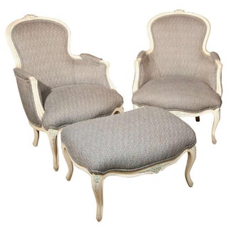 French Duchesse Brisee Bergere Chairs - Set of 3