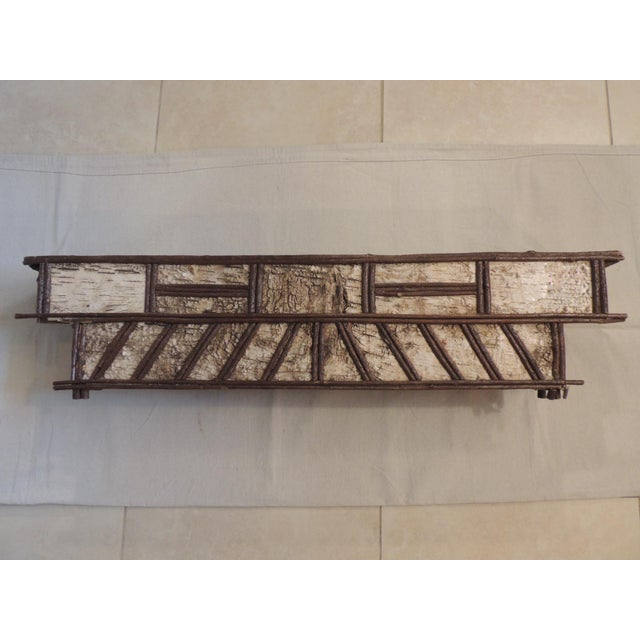 Primitive Adirondack Rustic Window Cornice - Image 2 of 6