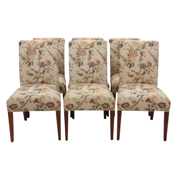 Floral Dining Chairs, S/6 - Image 1 of 6