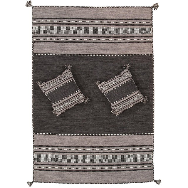 "Pasargad Rustic Santa Fe Collection Rug- 5'2""x7'6"" - Image 1 of 3"