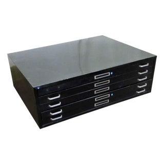 Black Metal Map Cabinet