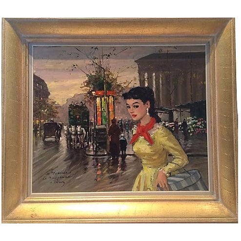 1950's Gerome-Signed Le Madeliane Oil Painting - Image 1 of 6
