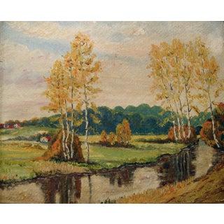 Impressionist Autumn Landscape Painting