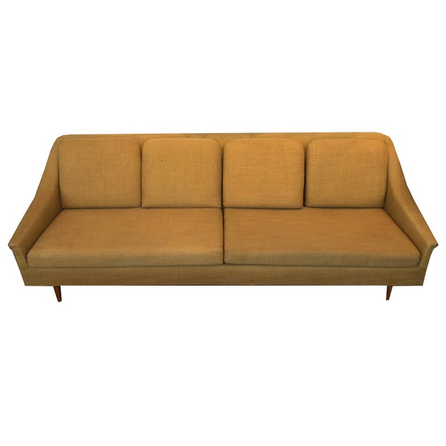 Mustard Danish Mid Century Sofa - Image 1 of 2