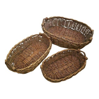 Large Stacking Oval Baskets- Set of 3