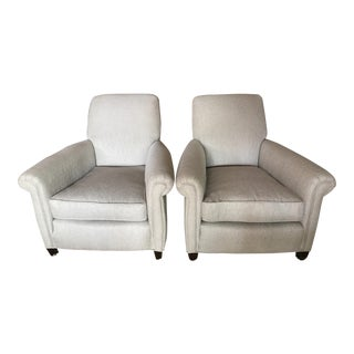 Mitchell Gold Herringbone Lounge Chairs - A Pair