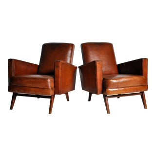 Pair of Mid-Century Modern Square Armchairs