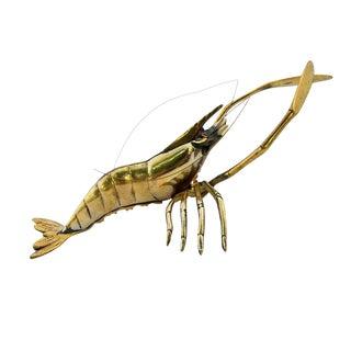 Large Vintage Brass Lobster