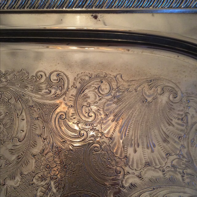 Silverplate Serving Tray - Image 6 of 11