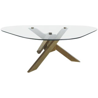 Sculptural Brass Modernist Coffee Table.