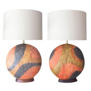 Pair of Ceramic Table Lamps by Marcello Fantoni